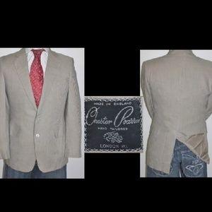 Custom Bespoke England Striped Linen Blazer Jacket